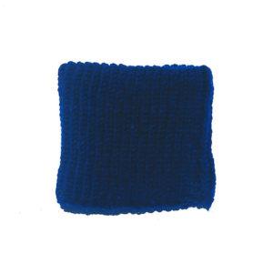 Cuello azul oscuro hecho a mano