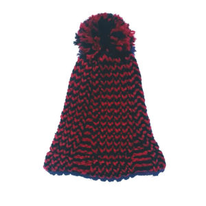 Gorro especial rojo y negro hecho a mano